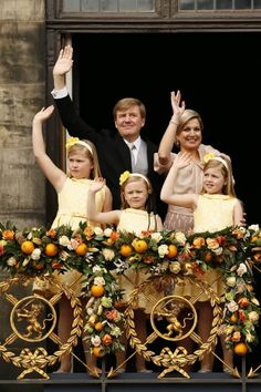 Dutch Royal Family, on coronation day of King Willem Alexander.