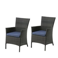 allen + roth Savona Wicker Patio Dining Chair (Set of 2) | Lowe's Canada
