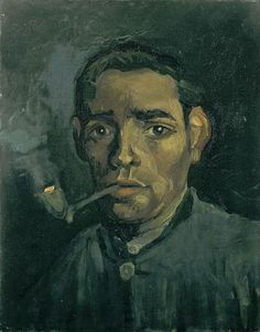 Vincent Van Gogh Head of a Man 1885