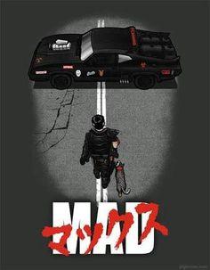 Mad Max and Akira Parody Film D'animation, Film Movie, Movie Cars, Foto T Shirt, Futurama, Akira Poster, Akira Anime, Car Posters, Movie Posters