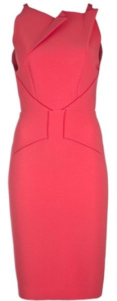 Roland Mouret Sleeveless Fold Detail Dress in Purple (coral) - Lyst