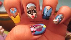 after i saw theses I googled Disney Nail art and I want to try half of them <3