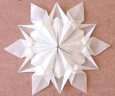 Snowflake origami tutorial Sneeuwvlokje origami diagram