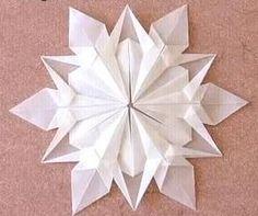Snowflake origami tutorial
