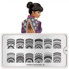 Mandala Nail Art Design 08