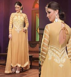 #SALWARKAMEEZEMBROIDERED FRONT AND BACK GEORGETTE TOP WITH INNER, MATCHING SALWAR AND CHIFFON ODHNI