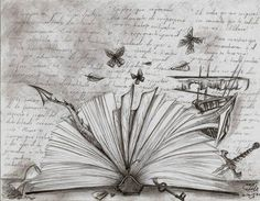 open book with stories coming out - Google Search
