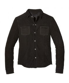 Rogue Washed Leather Shirt Jacket