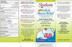 Cough Syrup box design | Kids Cold and Mucus Relief Cough Syrup box