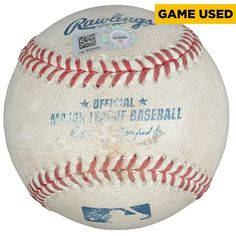 Texas Rangers Fanatics Authentic Game-Used Baseball vs. Seattle Mariners on August 19, 2015 - $39.99
