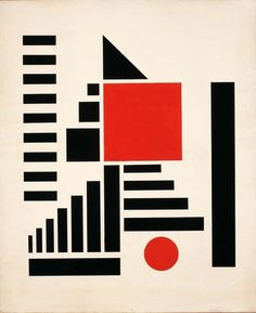 White, red and black mechano-factura (1924) Henryk Berlewi | MOMA