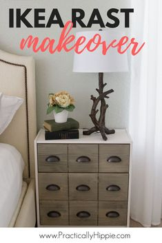 Transform a $34.99 IKEA dresser into a farmhouse chic nightstand. #ikeahack #farmhousestyle #diyprojects