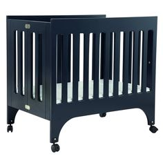 Have to have it. Babyletto Grayson Mini Crib with Pad - Navy $247.98