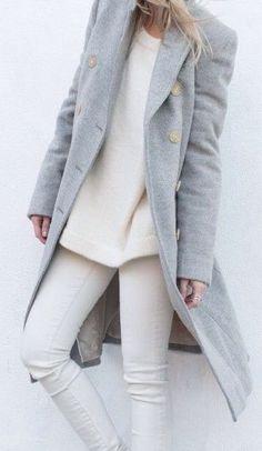 #fall #fashion / gray oversized coat