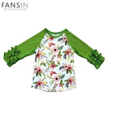 Spring Children T shirt Blouse Fashion Baby Girls Tops Floral Print Long Sleeves O Neck T Shirts Girls Kids Casual Tee Clothes