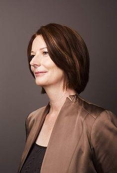 Portrait of Deputy Prime Minister of Australia Julia Gillard photographed at the Sydney Labour Offices. 2010. Photo: James Brickwood