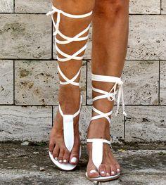 IRINI 4 leather gladiator sandals/ ancient Greek sandals/ lace