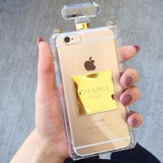 NEW ARRIVAL iPhone X, iPhone 8 and iPhone 8 PLUS. Transparent / Clear Chic Chanel style perfume bottle case.