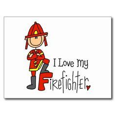 Cadeau de sapeur-pompier carte postale