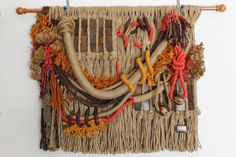 Tapestry-Wall hanging-Weaving-Woven-Wall by MarthAguilerArt