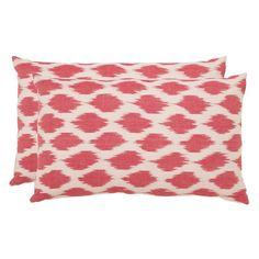 Safavieh Polka Dots Pillow - Set of 2 Rose - PIL504A-1220-SET2