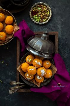 Motichoor Ladoo is a popular sweet across India. Motichoor Ladoo is often made in festivals. I made Motichoor Ladoo for my daughter on her special demand. Indian Dessert Recipes, Indian Sweets, Orange Recipes, Sweet Recipes, Cooking With Ghee, Sweets Photography, Comida India, Diwali Food, Bengali Food