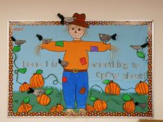 Bulletin board ideas are so various. It must be a very good thing for you to have it since there are a lot of ideas that you can have to create an amazing bulletin board in class. Beach Bulletin Boards, Bulletin Board Sayings, Welcome Bulletin Boards, Thanksgiving Bulletin Boards, Christian Bulletin Boards, November Bulletin Boards, Halloween Bulletin Boards, Preschool Bulletin Boards, Preschool Themes