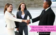 {The Classy Woman Blog} Manners Monday: How to Properly Make an Introduction