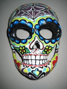 Sugar Skull Day of the Dead Mask One of a kind called by VonSwag, $200.00