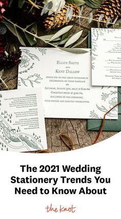 Planning a wedding for next year? Here are the new 2021 wedding invitation trends you'll want to read all about.