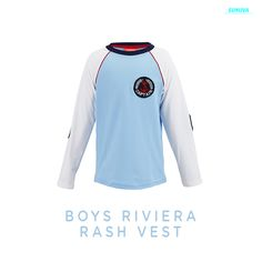 When it's time to hop off the boat into the water for a swim - make sure they're wearing this stylish rash vest.