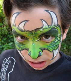 Monster Mask Face Painting by A Pinch of Wonderful