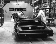 A DMC De Lorean factory photo