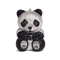 Judith Leiber Ling Panda Evening Clutch Bag, Black/White