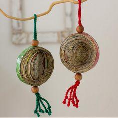 Novica Concentric Circles Ornament Set