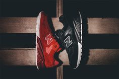 The Revlite cushioned edition of the New Balance is covered in tonal colors for autumn/winter. Suede built with leather detailing, the kicks are available