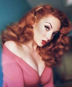 ℛUℬᎽ ℛᎾЅℰ💋  Populär Vintage Hairstyle. PLEASE follow my boards.... - #boards #Follow #hairstyle #Populär #ℛUℬᎽ #ℛᎾЅℰ #Vintage