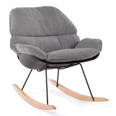 AiKuJia-HO Rocking Chairs Rocking Chair Rocker Relax Chair Lounge Chairs Recliner Relaxing Chair Comfortable Padded Seat (Color : Gray -- See this great product-affiliate link. Indoor Outdoor Furniture, Outdoor Cushions, Seat Cushions, Design Moderne, Deco Design, Rocking Chairs For Sale, Deco Boheme Chic, Nursing Chair, Kokoon Design