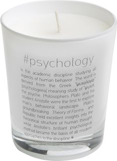 Scented Candle #Psychology Scented Candles, Candle Jars, Greek Language, Greek Words, Human Behavior, English Words, Psychology, Collection, Greek Sayings