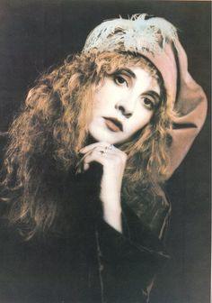 Stevie Nicks, hand tinted photo (by Stevie herself).