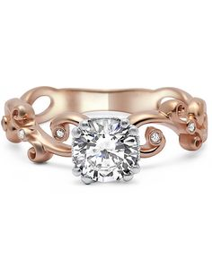 Timeless Engagement ring  #rosegold #ring #engament
