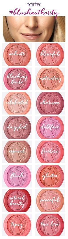 We have the perfect blush shade for every #tartelette! #blushauthority