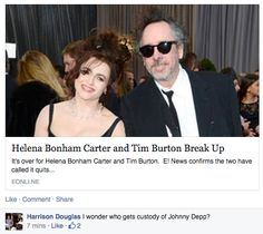 Tim Burton and Helena Bonham Carter Break Up