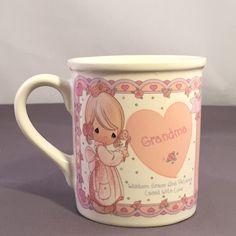 Precious Moments Vintage Grandma Cup Mug 1994 Enesco Wisdom Grace Love | eBay