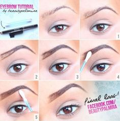 Beauty Palmira: Augenbrauen-Tutorial - Make up - Eyebrown Makeup Perfect Eyebrows Tutorial, Eyebrow Tutorial, Eye Tutorial, Eyebrow Makeup Tutorials, Eyebrow Images, Eyebrow Styles, Perfect Eyebrow Shape, Perfect Brows, Diy Makeup