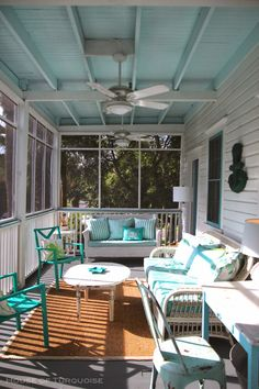 House of Turquoise: Southern Tides - Tybee Island, Georgia - Part 1 painted porch!