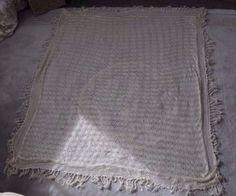 Authentic Handmade Antique Crochet Lace Shawl - ?Silk? - ? Georgian ? Victorian in Antiques, Fabric/Textiles, Lace/ Crochet/ Doilies | eBay