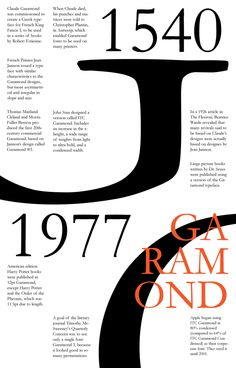A History of Garamond by Erin Sauder, via Behance