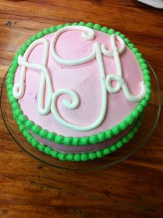 Monogrammed Birthday Cake By Chandra Holland If Its Not - Monogram birthday cakes