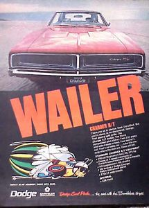 1969 Dodge Charger RT WHAILER ORIGINAL Vintage Ad CMY STORE 5+ ...